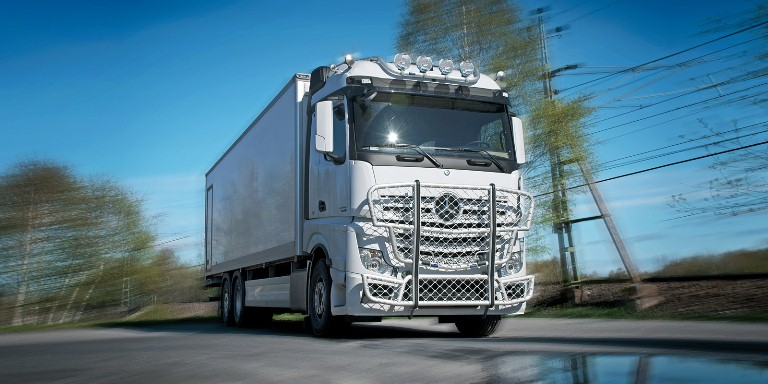 New Mercedes Actros. Front Protection, Highway A47-1 и Top-Bar G47-2